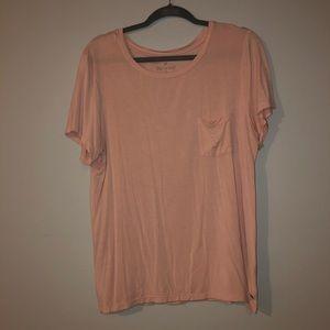 light pink american eagle t-shirt size large